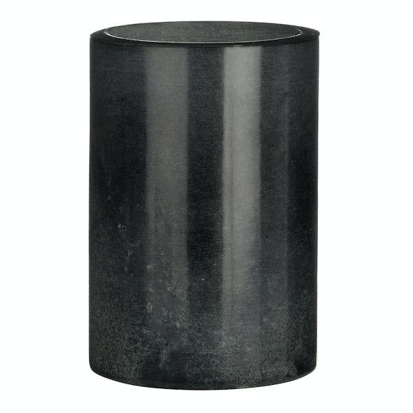 Black marble tumbler