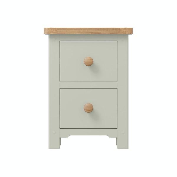 Rome Oak & Grey 2 Drawer Bedside in Oak & Grey