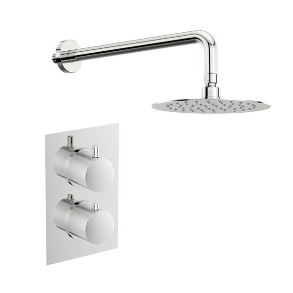 Mode Banks thermostatic shower valve with wall shower set