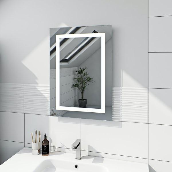 Mode Shine rectangular LED mirror with demister