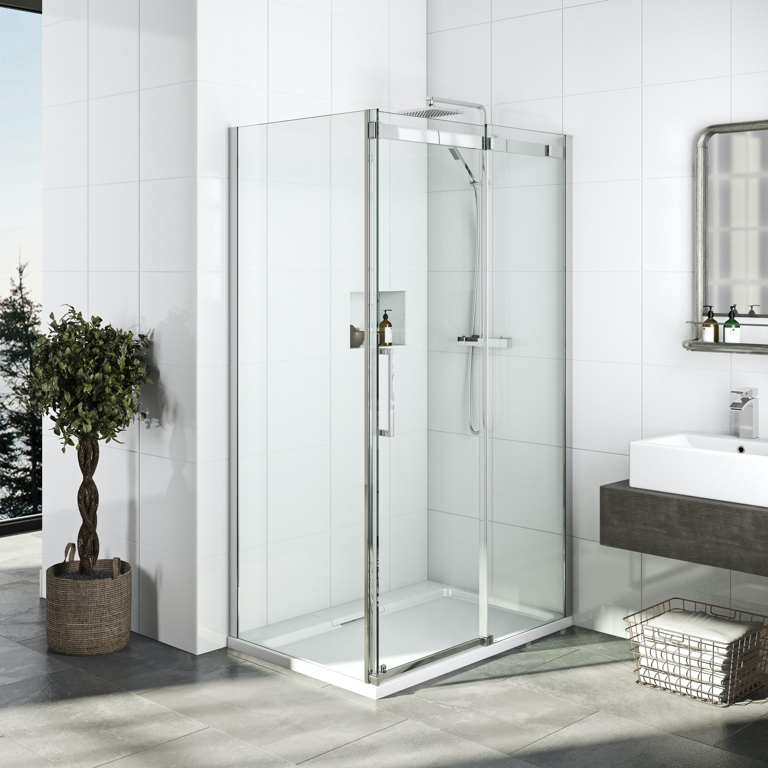 Mode Elite 10mm frameless sliding shower enclosure 1200 x 800