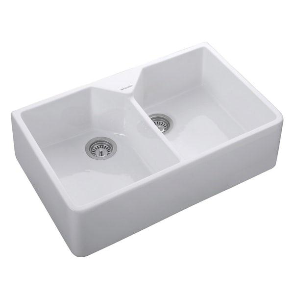 Rangemaster Double Bowl Belfast 2 bowl ceramic kitchen sink