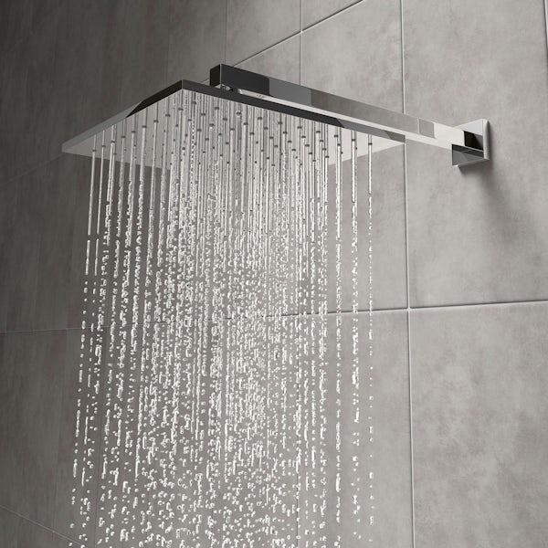 Tetra square shower head 250mm