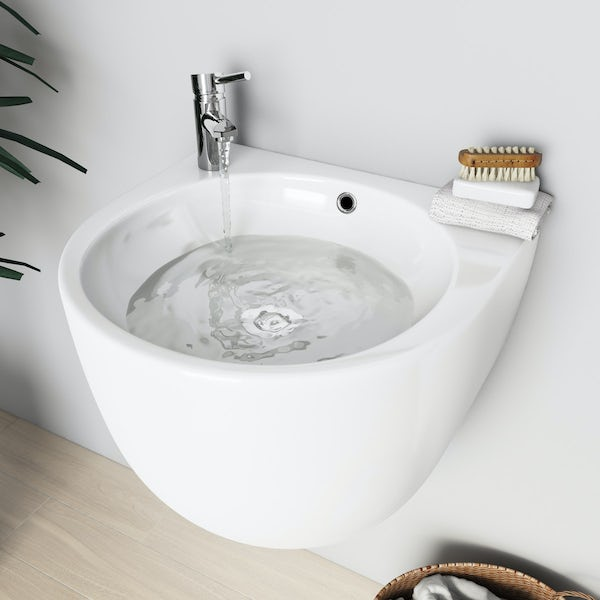 Mode Harrison wall hung basin 500mm with waste