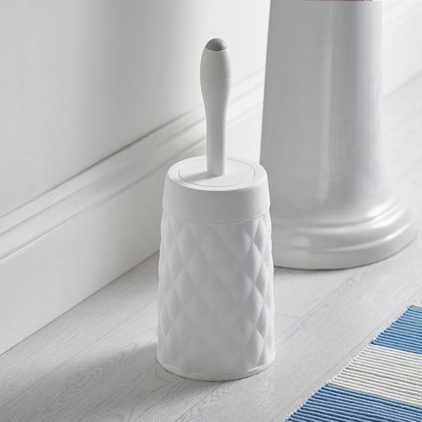 Addis White diamond toilet brush