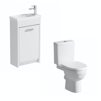 Smart Compact White Unit with Energy Toilet