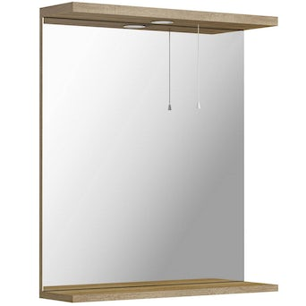 Sienna Oak 650 Mirror with lights Special Offer