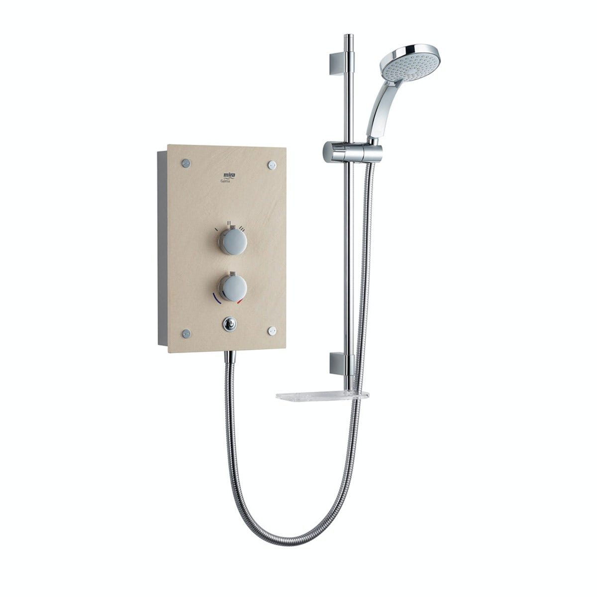Mira Galena 9.8kw electric shower light stone