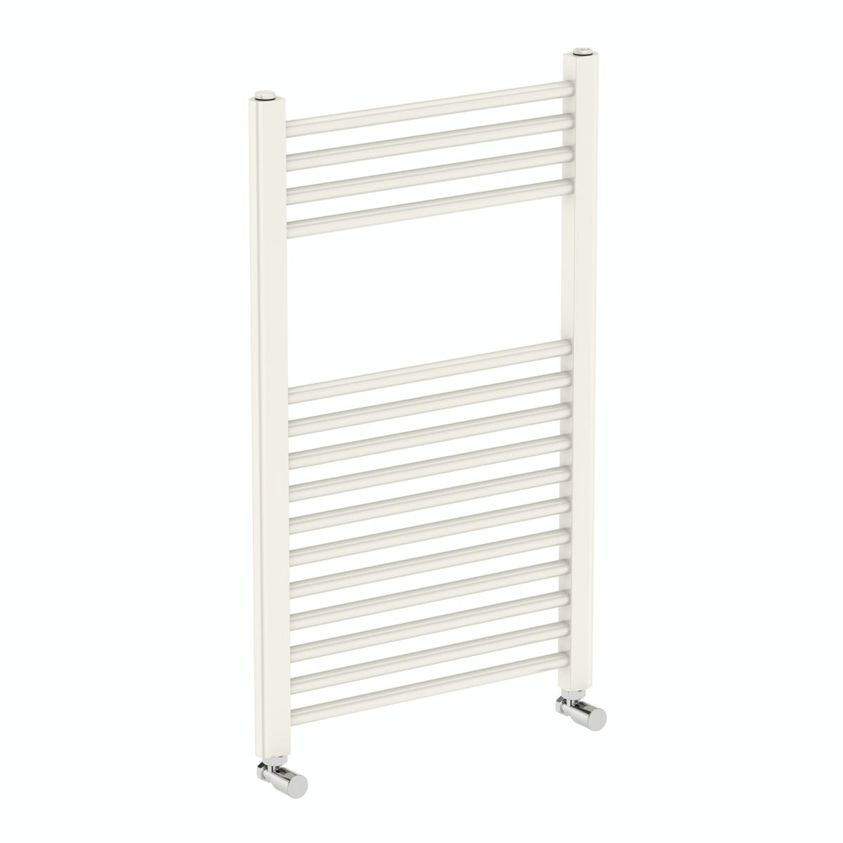 Orchard Eden round white heated towel rail 800 x 490