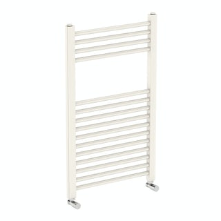 Eden round white heated towel rail 800 x 490 offer pack