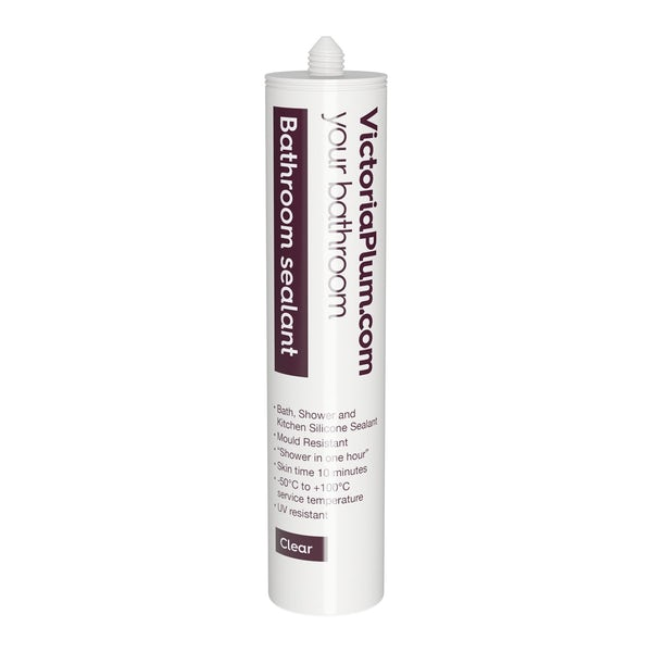 Pack of 12 Bathroom sealant-clear