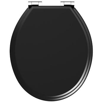 The Bath Co. universal soft close wooden seat matte black
