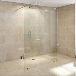 Premium 10mm wet room glass panel 1550mm