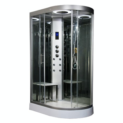 Insignia left handed offset quadrant hyrdo-massage shower cabin 1200 x 800