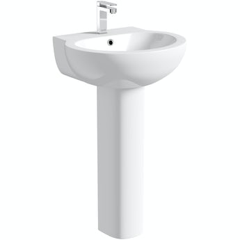 Orchard Elsdon 1 tap hole full pedestal basin 540mm