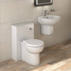Madison back to wall toilet and semi pedestal basin suite 540mm