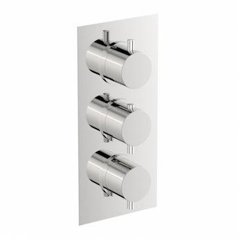 Mode Matrix square triple thermostatic shower valve offer pack