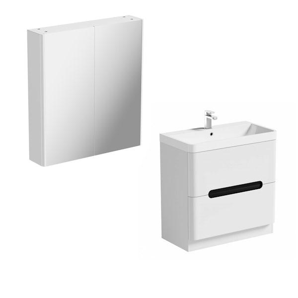 Mode Ellis essen vanity unit 800mm and mirror cabinet offer
