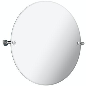 The Bath Co. Traditional round pivot mirror