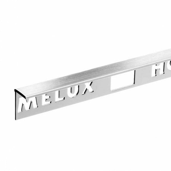 Aluminium Stainless Steel Effect Tile Trim 10mm