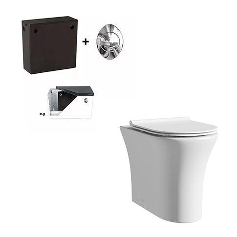 Mode Hardy rimless back to wall toilet with slimline soft close seat and concealed cistern