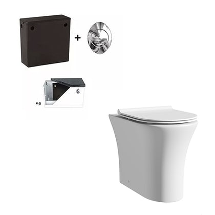 Mode Hardy back to wall toilet inc slimline soft close seat and concealed cistern