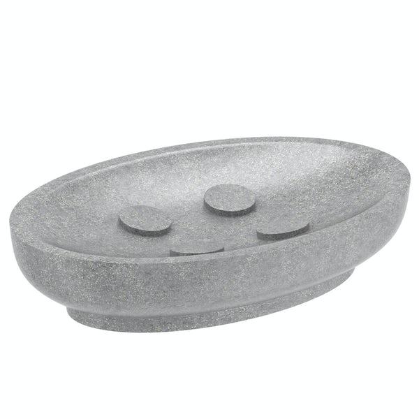 Mineral grey resin soap dish
