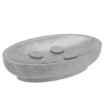 Orchard Mineral grey resin soap dish