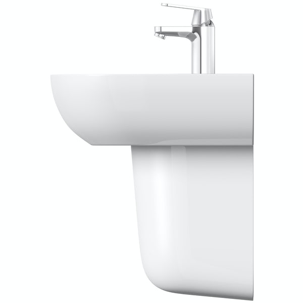 Grohe Bau 1 tap hole semi pedestal basin 600mm