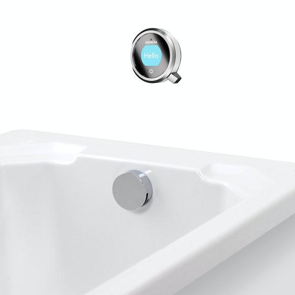 Aqualisa Q exposed digital shower standard with bath filler
