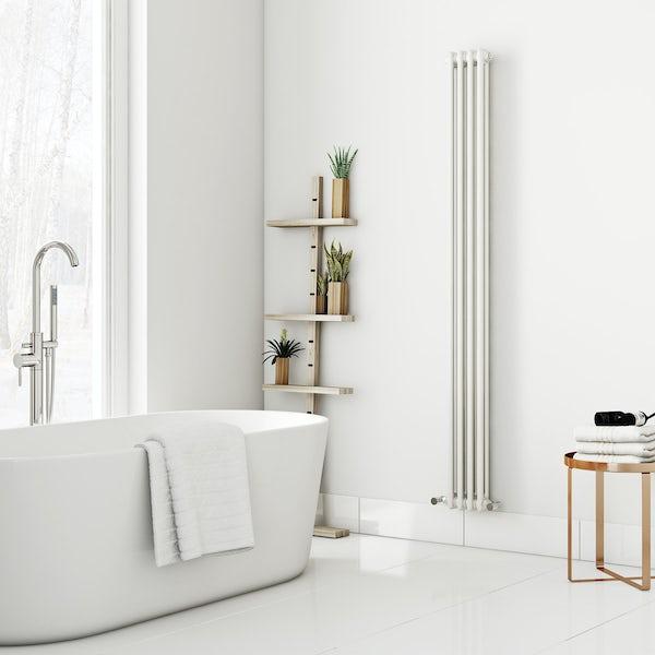 Dulwich vertical white double column radiator 1800 x 200