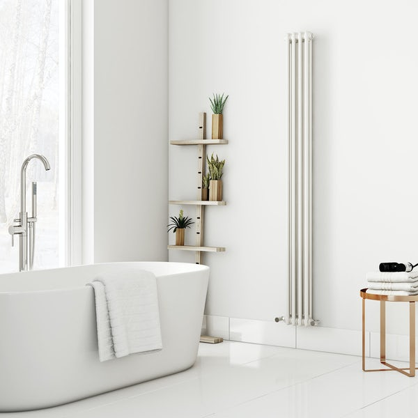 Dulwich vertical white double column radiator 1800 x 200