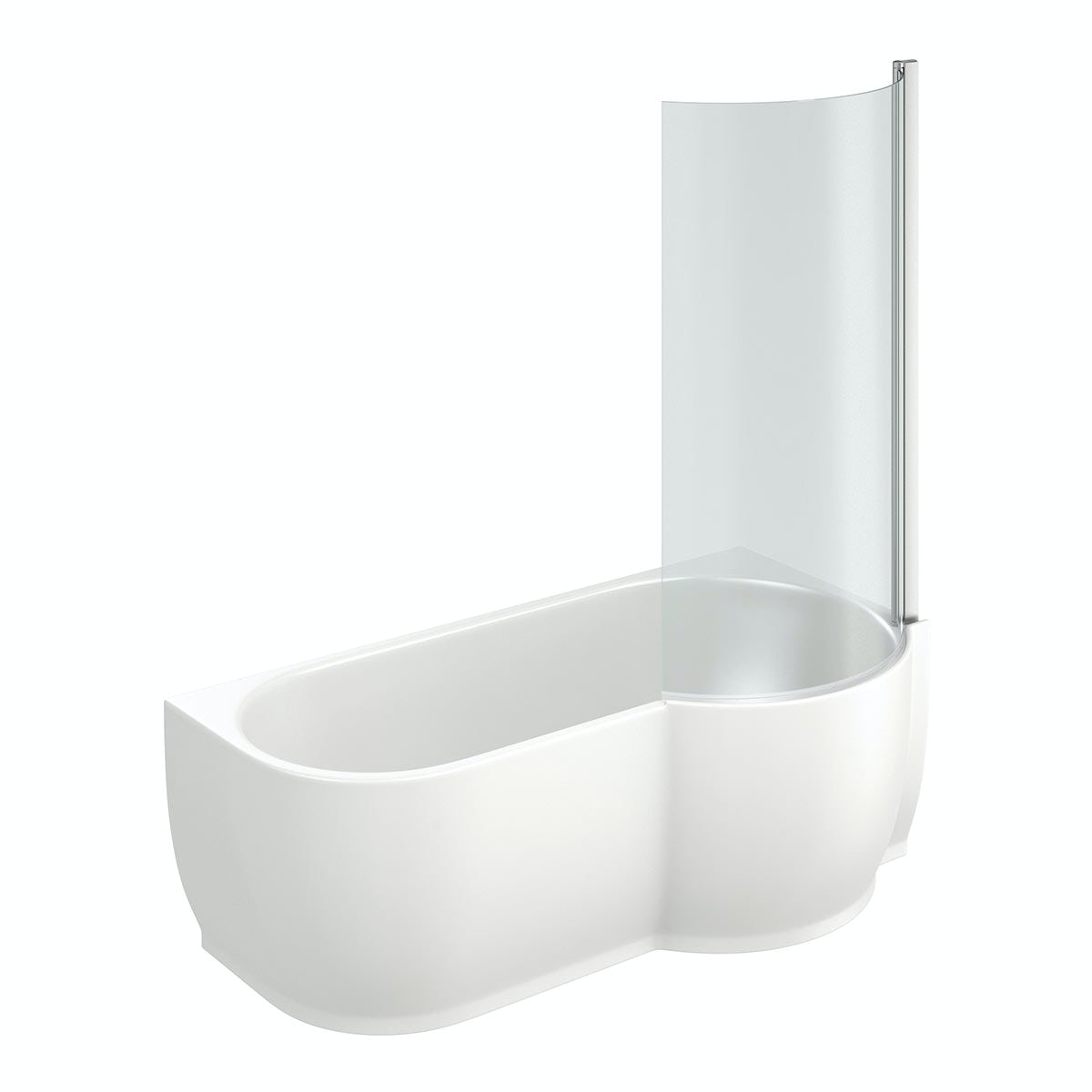 Free Delivery Harrison P Shaped Freestanding Shower Bath 6mm Screen RH