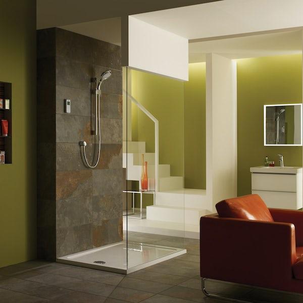 Mira Vision rear fed digital shower standard