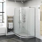 Orchard 6mm one door offset quadrant shower enclosure 900 x 760
