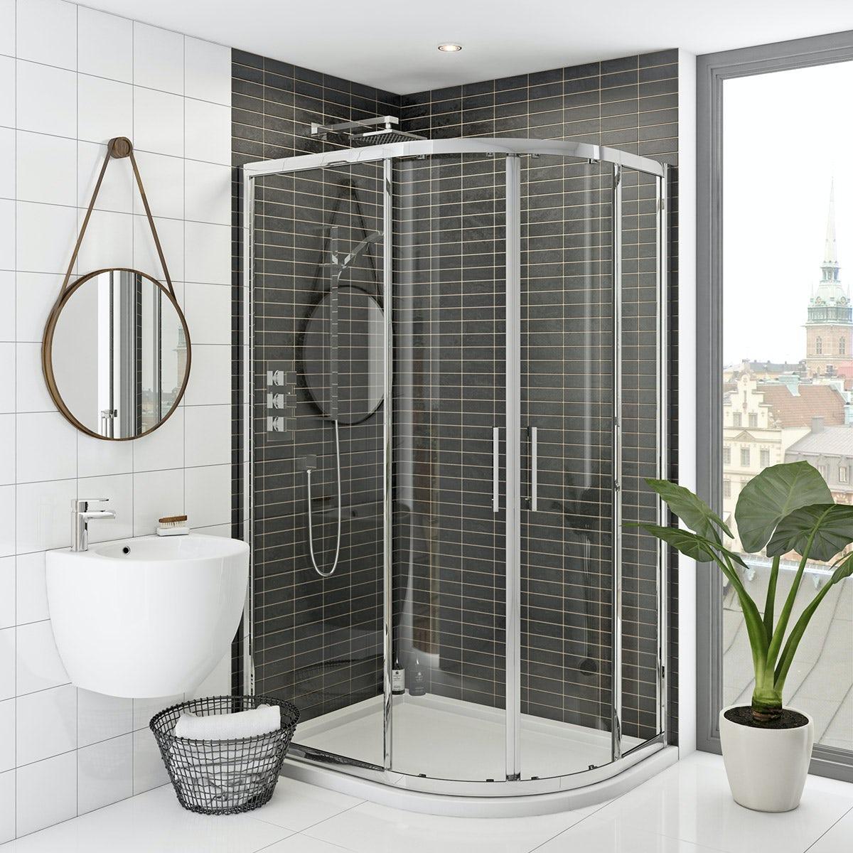 Mode Hardy premium 8mm easy clean offset quadrant shower enclosure