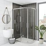 Mode Hardy premium 8mm easy clean offset quadrant shower enclosure 900 x 760
