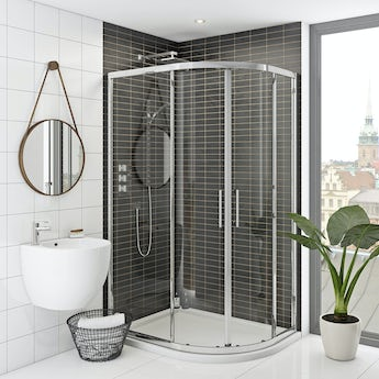 Mode Hardy premium 8mm easy clean offset quadrant shower enclosure