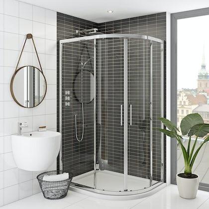 Hardy 8mm easy clean sliding offset quadrant shower enclosure