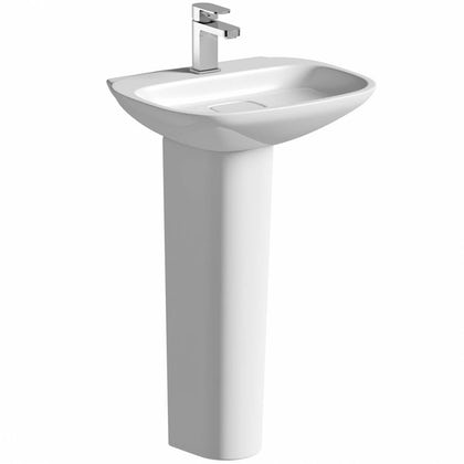 Heath 1TH 500mm Basin and Full Pedestal