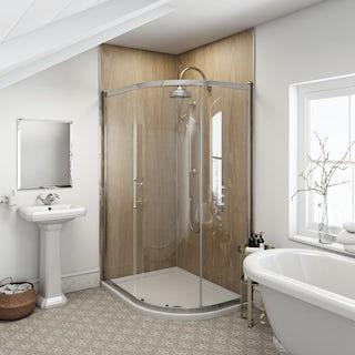 Multipanel Heritage Rural Oak unlipped shower wall panel 2400 x 1200