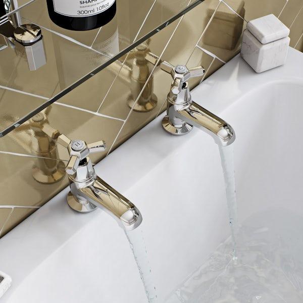 The Bath Co. Beaumont bath pillar taps