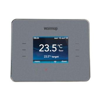 Warmup 3iE underfloor heating thermostat silver grey