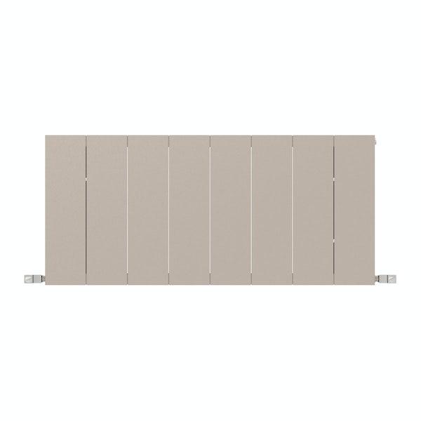 Neo oyster grey horizontal radiator 545 x 1200
