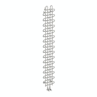 PLC chrome effect vertical radiator 1580 x 263