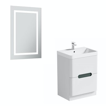 Mode Ellis select slate 600 vanity unit and mirror offer