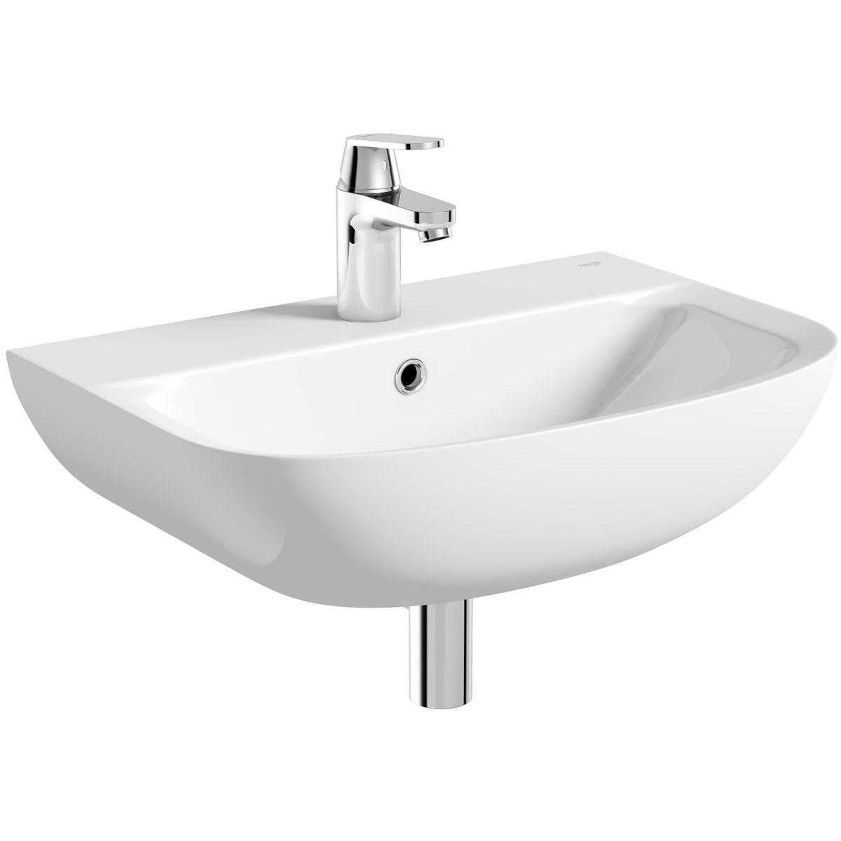 Grohe Bau 1 tap hole wall hung basin 550mm