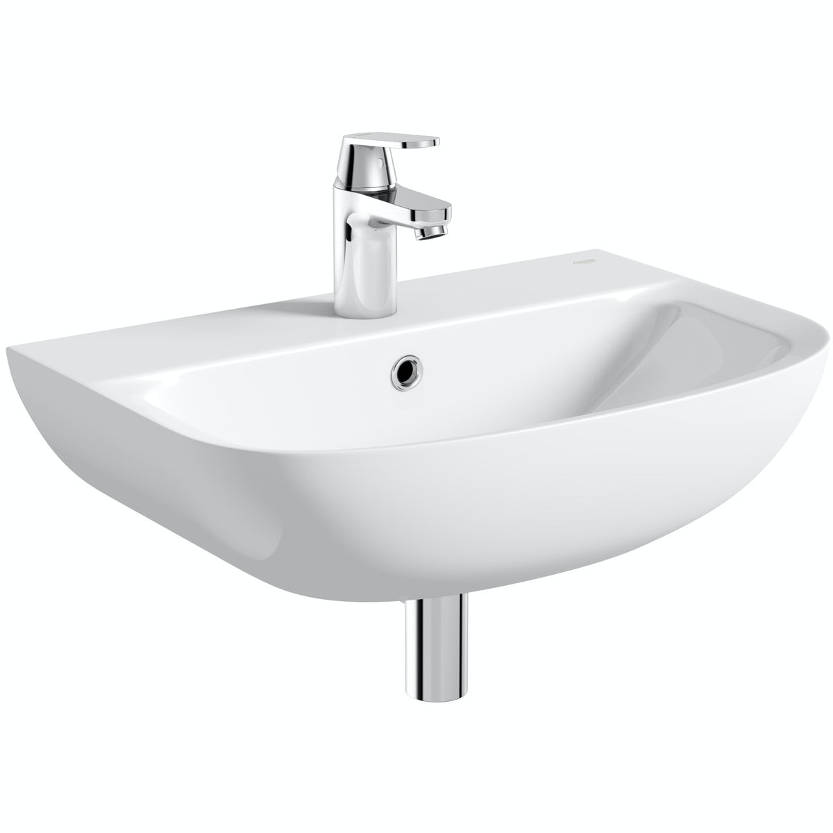 Grohe Bau 1 tap hole wall hung basin 550mm