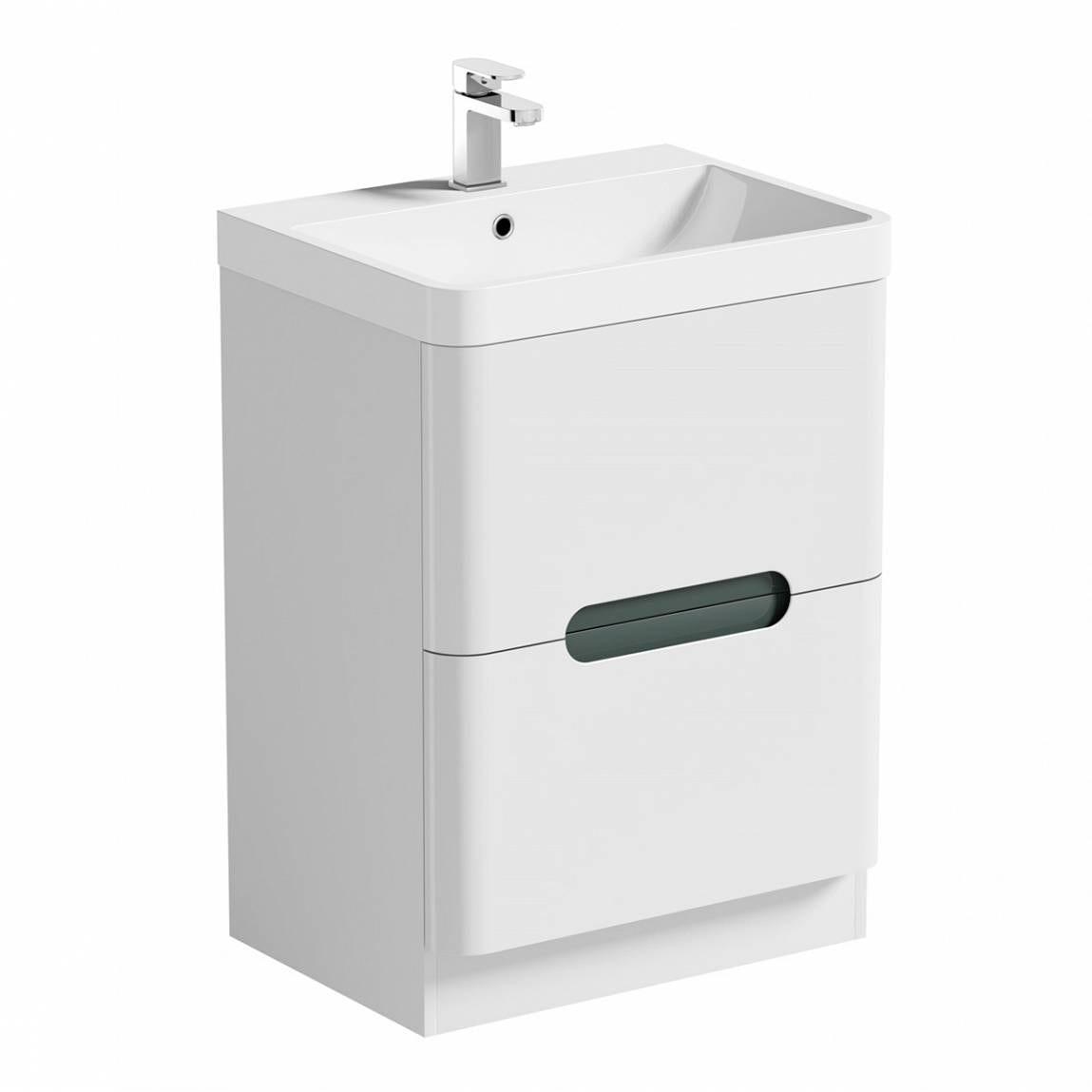 Mode Ellis slate vanity drawer unit and basin 600mm
