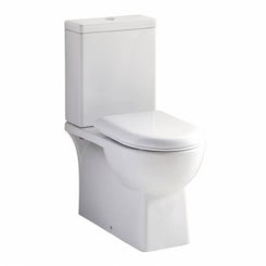 Brent close coupled toilet with soft close toilet seat